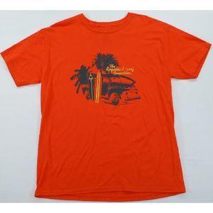 Izod T-Shirt Orange Surfboards Palms L NWT $25.00